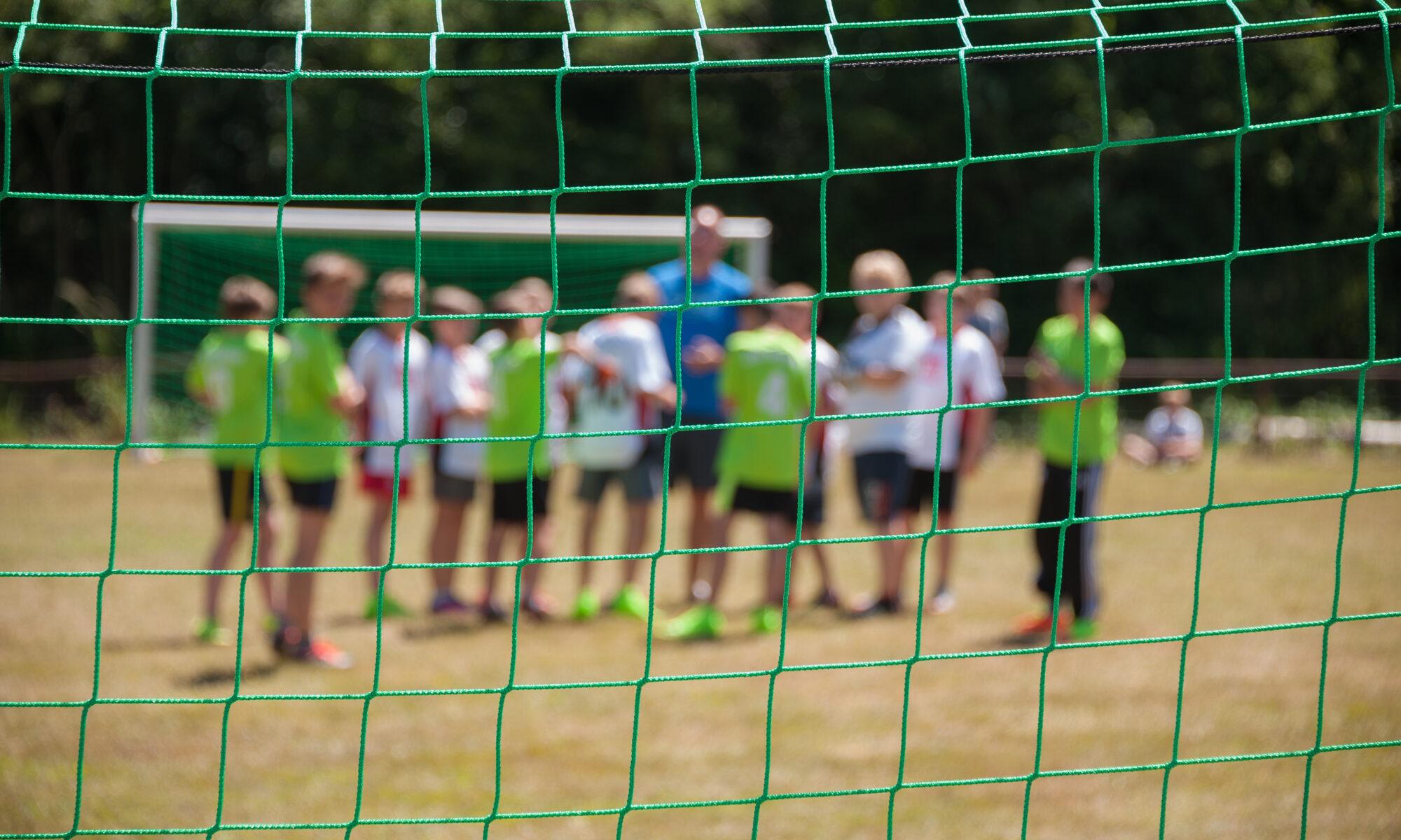 Fußballmannschaft auf dem Platz